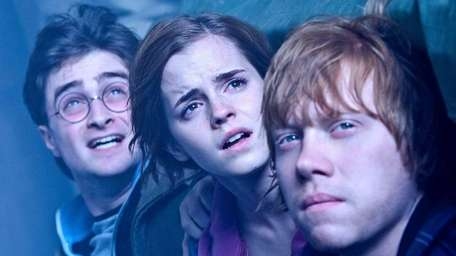 From left, Daniel Radcliffe as Harry Potter, Emma