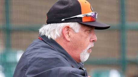 Long Island Ducks manager Wally Backman watches the
