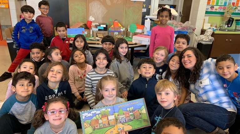 First-graders in Antoinette Hatzopoulos' class at Glen Cove's