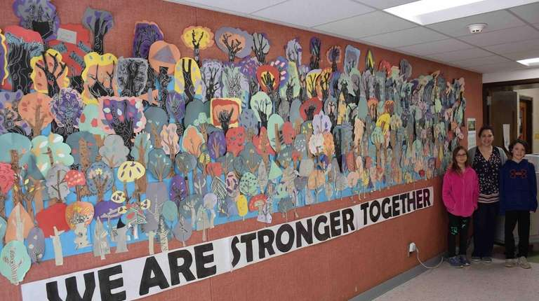 Wading River School students recently collaborated to create