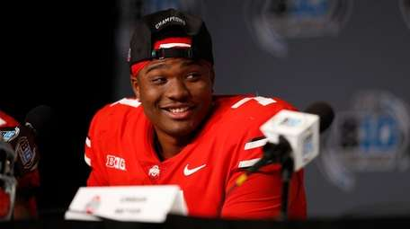 Dwayne Haskins Jr. #7 of the Ohio State