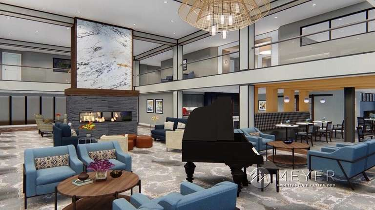 A rendering of the lobby of a proposed