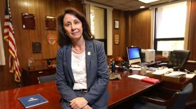 Suffolk County Police Commissioner Geraldine Hart in her