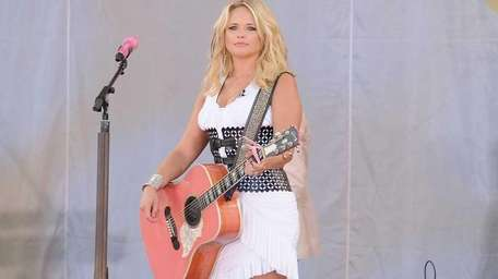 Musician Miranda Lambert performs at Rumsey Playfield, Central