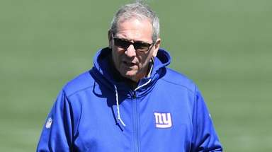 Giants general manager Dave Gettleman at voluntary minicamp