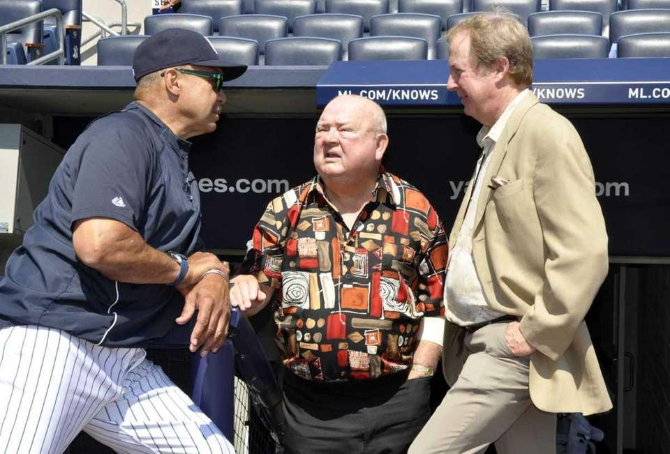 Reggie Jackson, Don Zimmer and baseball writer Bill