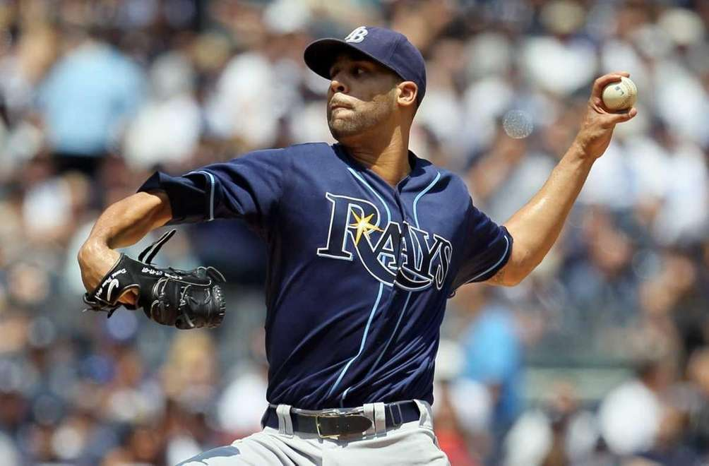 David Price #14 of the Tampa Bay Rays