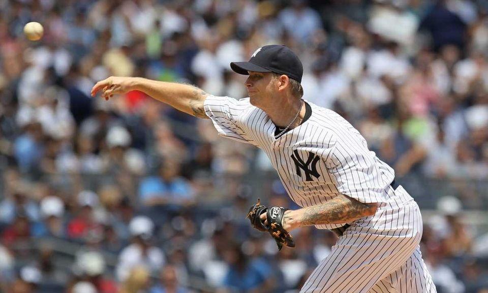 A.J. Burnett #34 of the New York Yankees