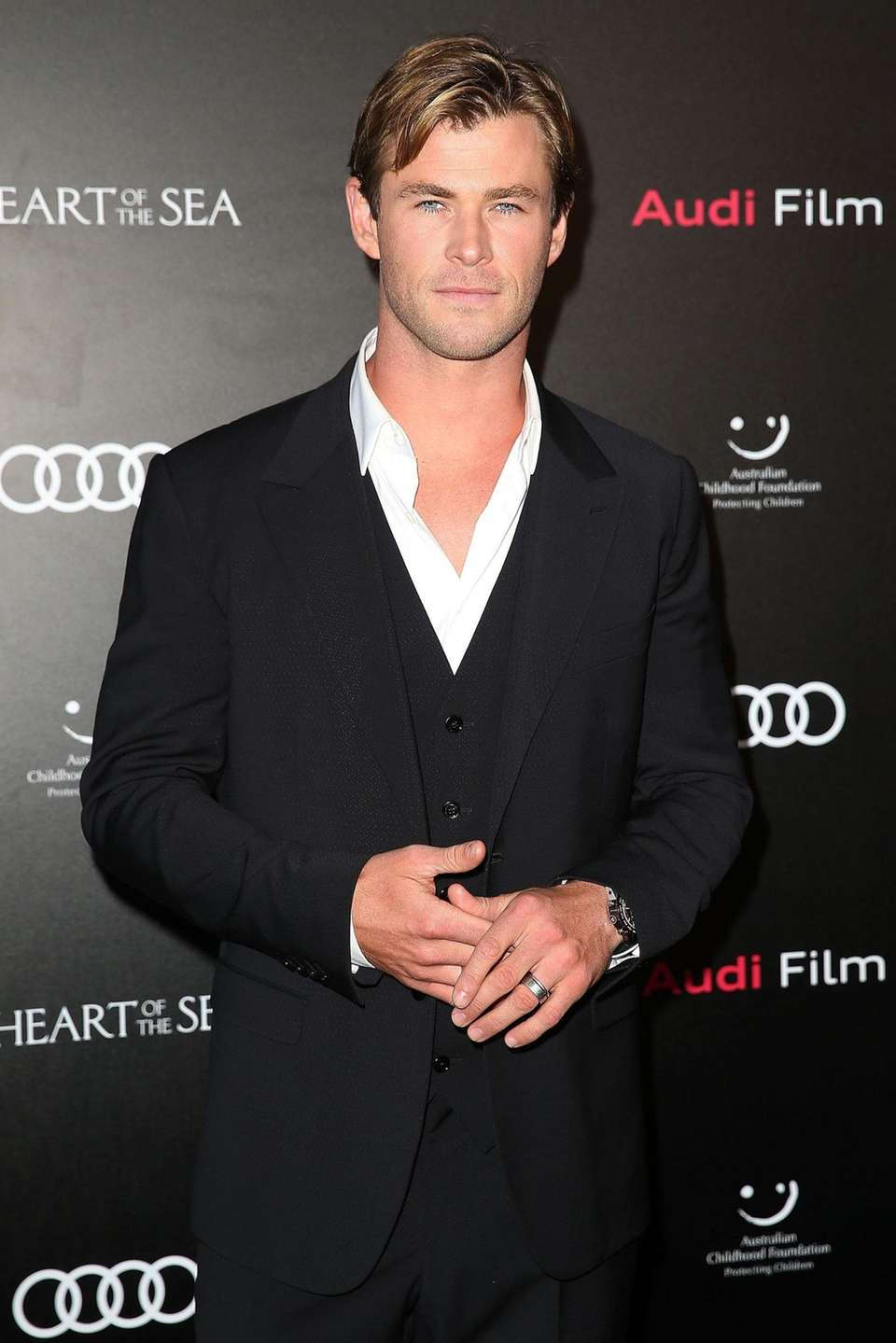 Chris Hemsworth arrives ahead of the Audi Film