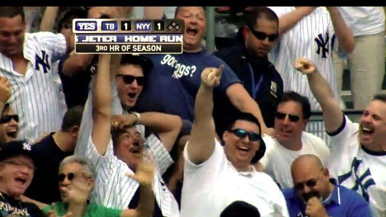 Frame grab of Christian Lopez at Yankee Stadium.
