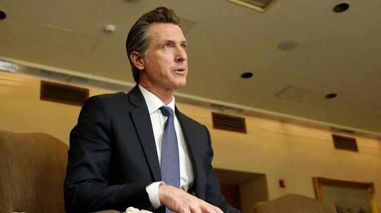 Gov. Gavin Newsom in Sacramento, Calif., on April