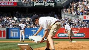 Bases are changed after the eighth inning of