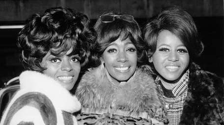 From left, Diana Ross, Mary Wilson and Cindy