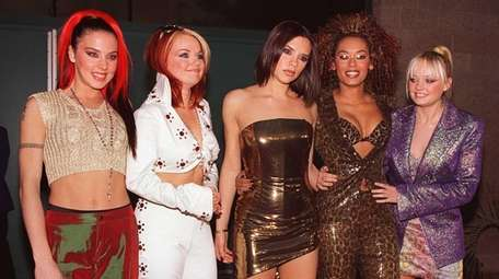 From left, Melanie Chislom (Sporty Spice), Geri Halliwell