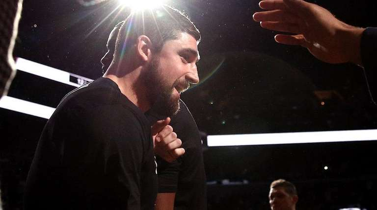 Nets guard Joe Harris is introduced before Game