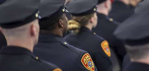 Recruits during commencement on March 24 at the