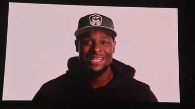 Running back Le'Veon Bell is seen on the