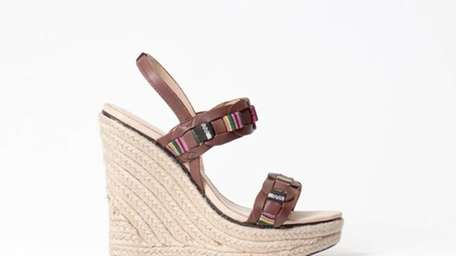 This Charlotte Ronson leather espadrille is on sale
