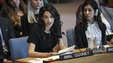 Human rights lawyer Amal Clooney and Iraqi human