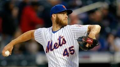 Zack Wheeler pitches during the first inning against