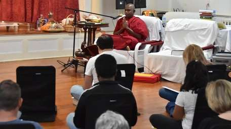 Bhante Kottawe Nanda, the resident monk from the