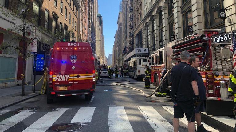 Manhole explosions in midtown Manhattan on Wednesday injured