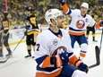 Jordan Eberle of the Islanders celebrates after scoring