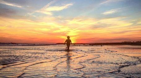 Brendan Walsh chasing a September Long Beach sunset.