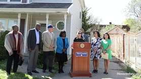 On Wednesday, Hempstead Town Supervisor Laura Gillen spoke at