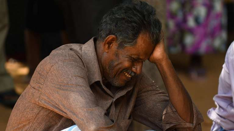 A relative of a Sri Lankan victim of