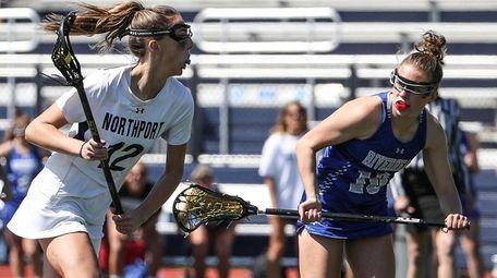 Northport's Danielle Pavinelli circles toward the net against