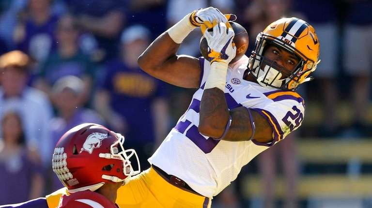 In this Nov. 11, 2017, file photo, LSU