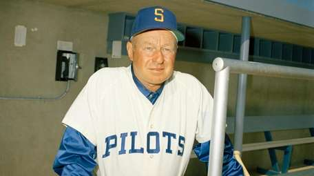 Joe Schultz, manager of the Seattle Pilots, is