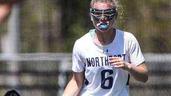 Chloe Hoschel of Northport watches the action during