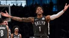 Brooklyn Nets guard D'Angelo Russell against the Boston
