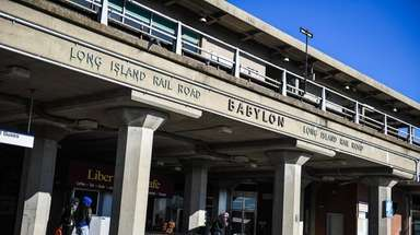 The Babylon Long Island Rail Road train station