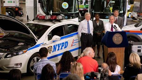 New York City Mayor Michael R. Bloomberg announces