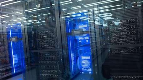 Shoppers can see the massive data center at