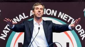 Presidential candidate Beto O'Rourke addresses the National Action