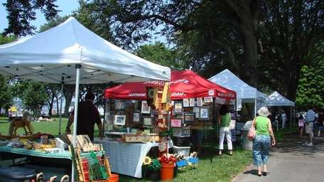 Vendors display their art and crafts at Art