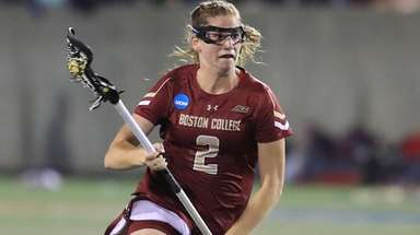 Boston College's Sam Apuzzo speeds up field after