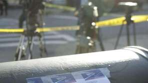 A missing person poster near where police found