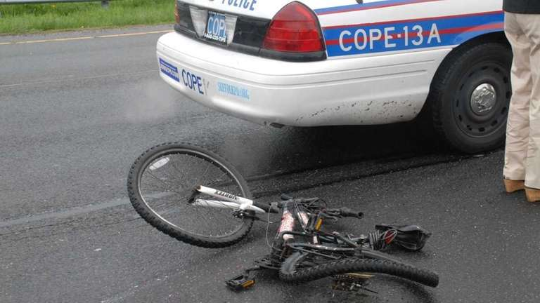 A bicyclist was injured in an accident on