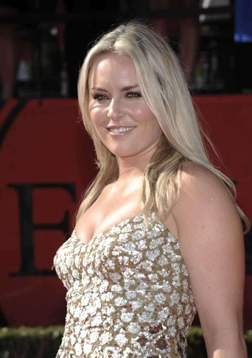 Lindsey Vonn arrives at the ESPY awards. (July