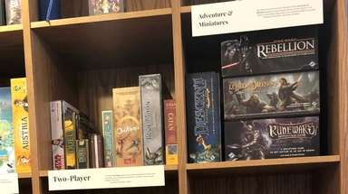 Some of the hundreds of board games available