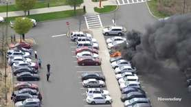 Multiple cars caught fire on Thursday in a