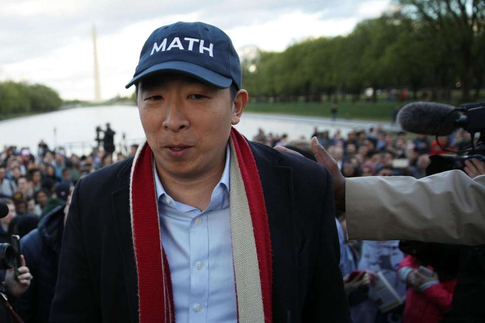 Democratic U.S. presidential hopeful Andrew Yang hosts a