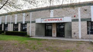A&F Fire Protection's offices in West Babylon, seen