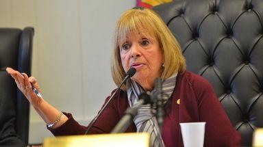Islip Town Supervisor Angie Carpenter speaks at a