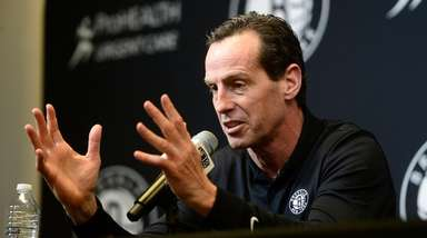 Nets General Manager Sean Marks and Head Coach